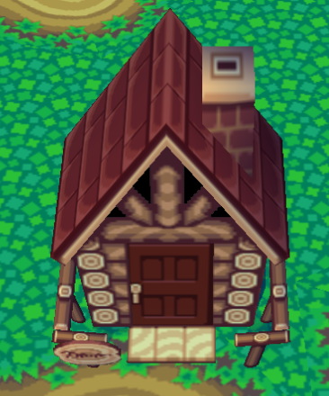 Exterior of Kody's house in Animal Crossing