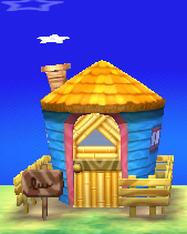 Exterior of Keaton's house in Animal Crossing: New Leaf