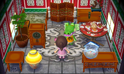 Interior of Drago's house in Animal Crossing: New Leaf