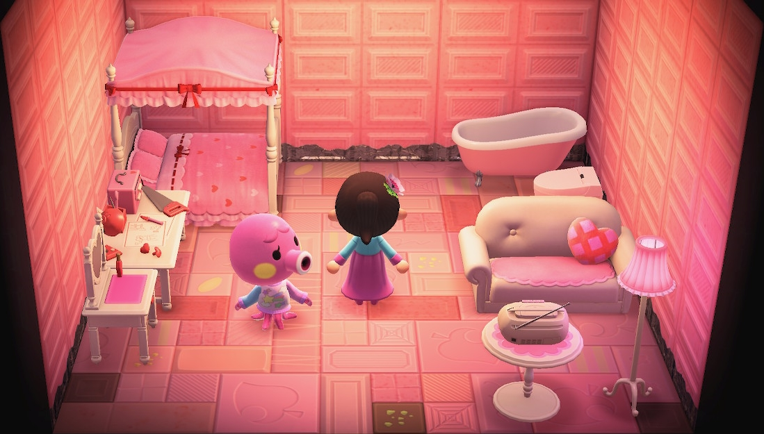 Interior of Marina's house in Animal Crossing: New Horizons
