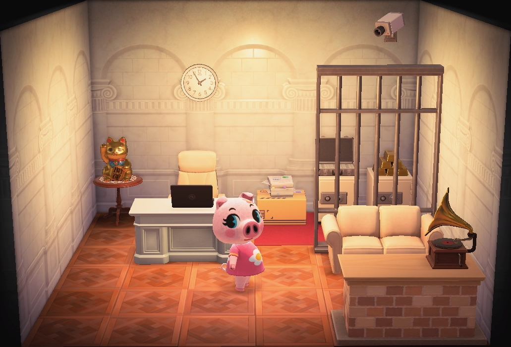 Interior of Gala's house in Animal Crossing: New Horizons