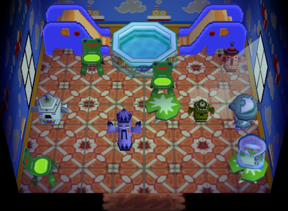Interior of Tad's house in Animal Crossing