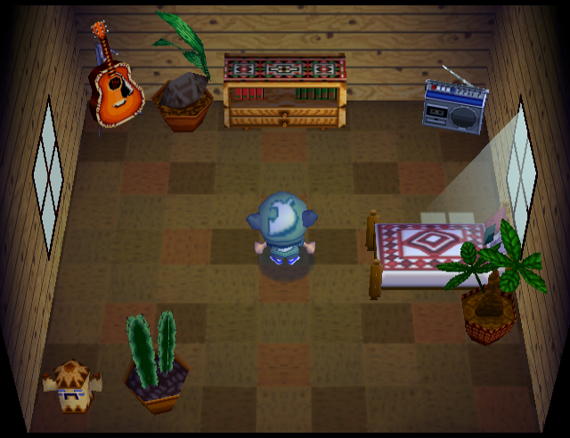 Interior of Curly's house in Animal Crossing