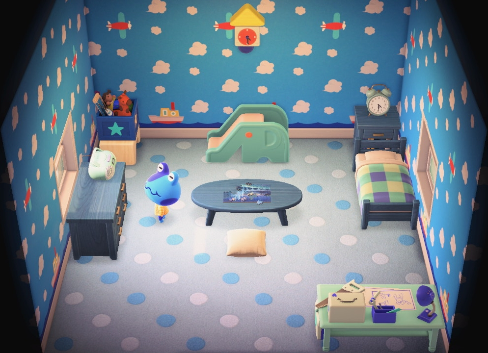 Interior of Jeremiah's house in Animal Crossing: New Horizons