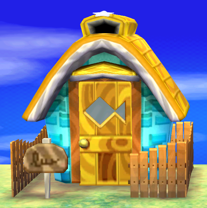 Exterior of Plucky's house in Animal Crossing: New Leaf