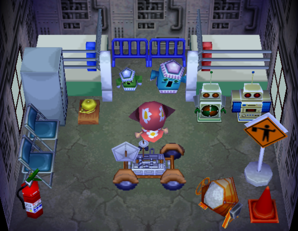 Interior of Sprocket's house in Animal Crossing