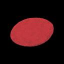 Red Medium Round Mat