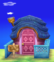 Exterior of Rosie's house in Animal Crossing: New Leaf