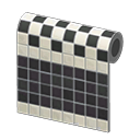 Black Two-Toned Tile Wall