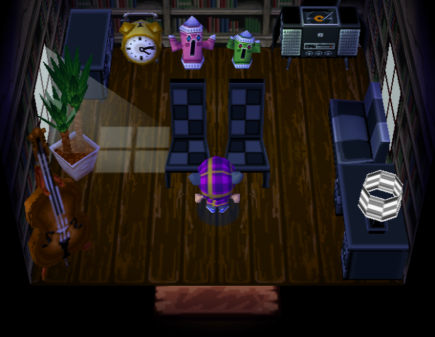 Interior of Hank's house in Animal Crossing