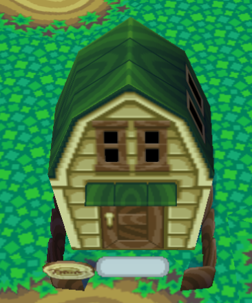 Exterior of Chuck's house in Animal Crossing
