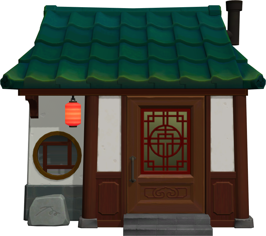 Exterior of Chow's house in Animal Crossing: New Horizons