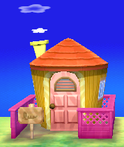 Exterior of Gala's house in Animal Crossing: New Leaf