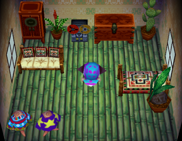 Interior of Hornsby's house in Animal Crossing