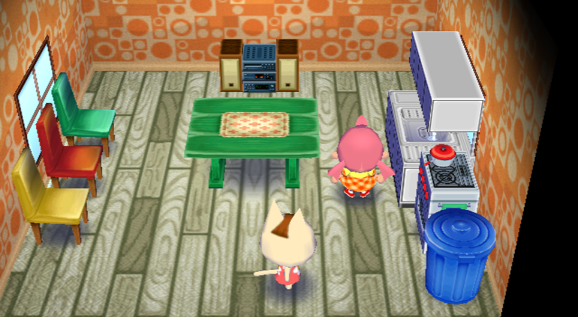 Interior of Merry's house in Animal Crossing: City Folk