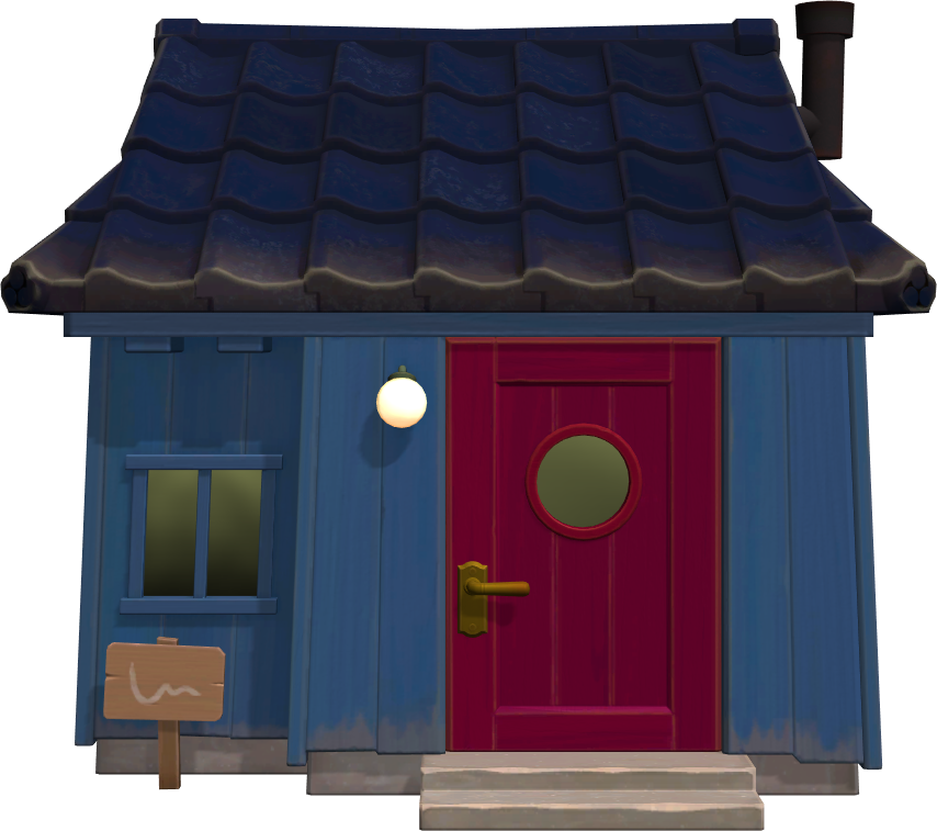 Exterior of Del's house in Animal Crossing: New Horizons