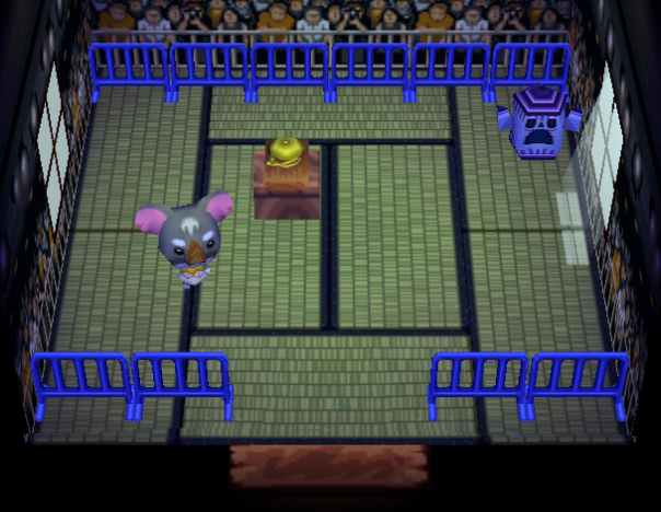 Interior of Gonzo's house in Animal Crossing