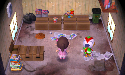 Interior of Jacob's house in Animal Crossing: New Leaf