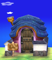 Exterior of Greta's house in Animal Crossing: New Leaf