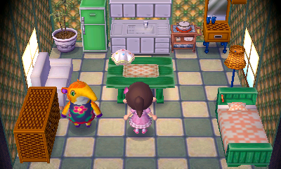 Interior of Anabelle's house in Animal Crossing: New Leaf