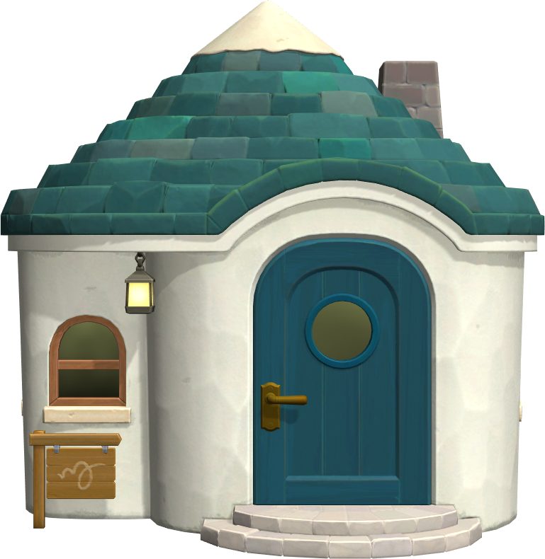 Exterior of Pango's house in Animal Crossing: New Horizons