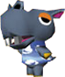 Rollo, an Animal Crossing villager.