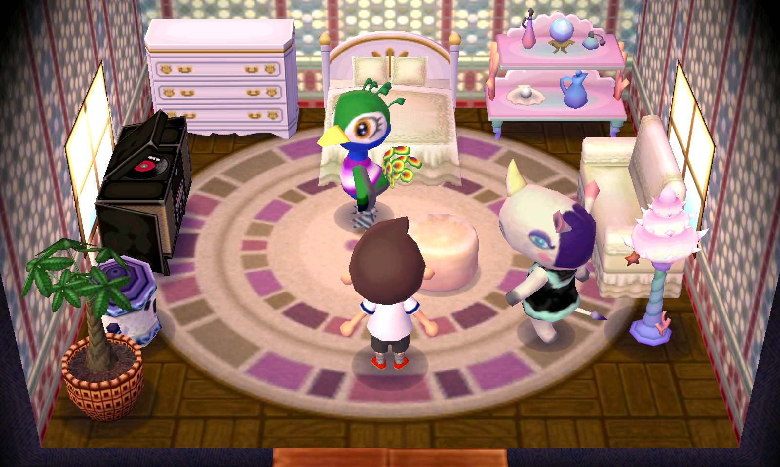 Interior of Rhonda's house in Animal Crossing: New Leaf