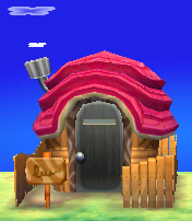 Exterior of Broffina's house in Animal Crossing: New Leaf