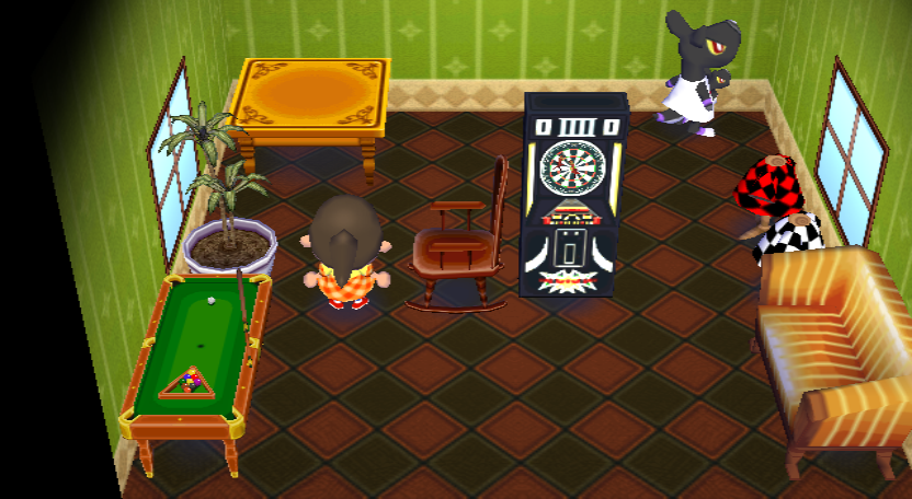 Interior of Mathilda's house in Animal Crossing: City Folk