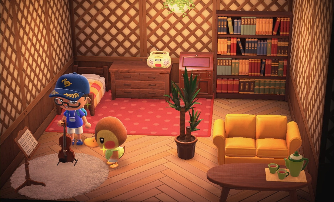 Interior of Molly's house in Animal Crossing: New Horizons