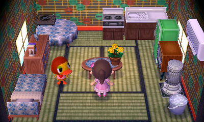Interior of Maelle's house in Animal Crossing: New Leaf
