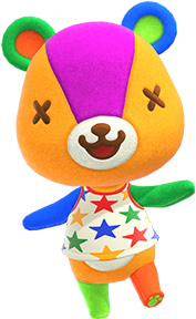 Stitches, an Animal Crossing villager.