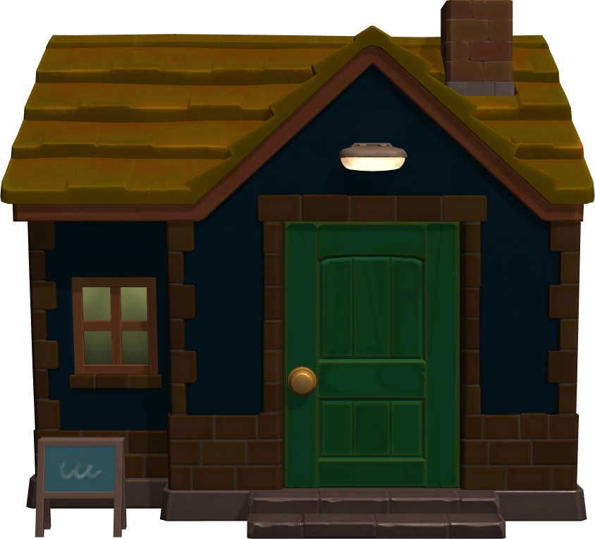 Exterior of Camofrog's house in Animal Crossing: New Horizons
