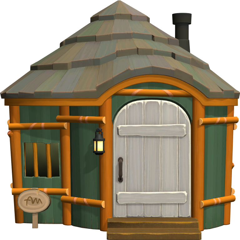 Exterior of Nate's house in Animal Crossing: New Horizons