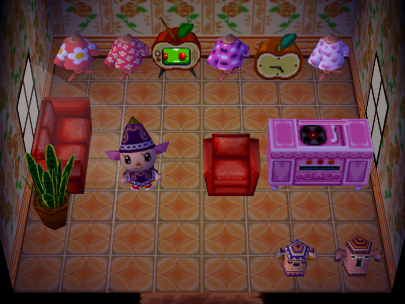 Interior of Candi's house in Animal Crossing