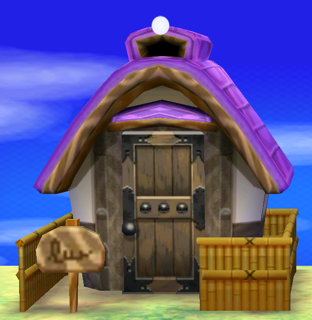 Exterior of Rizzo's house in Animal Crossing: New Leaf