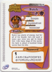 Animal Crossing-e 2-078 (Butch - Back).jpg