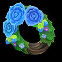Blue Rose Wreath