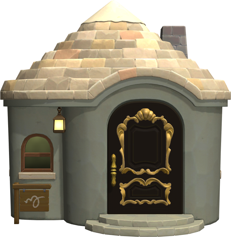 Exterior of Chops's house in Animal Crossing: New Horizons