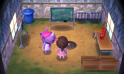 Interior of Renée's house in Animal Crossing: New Leaf