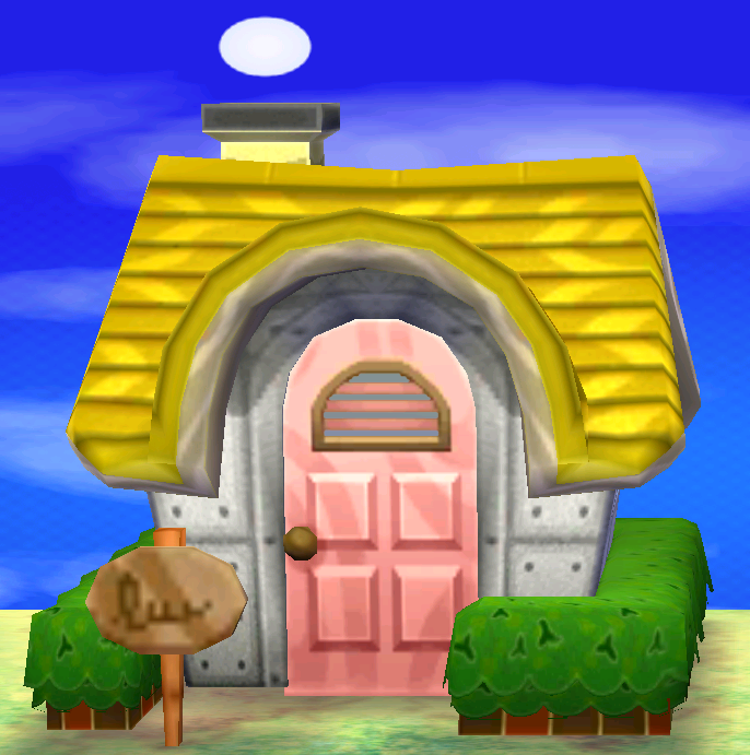 Exterior of Victoria's house in Animal Crossing: New Leaf
