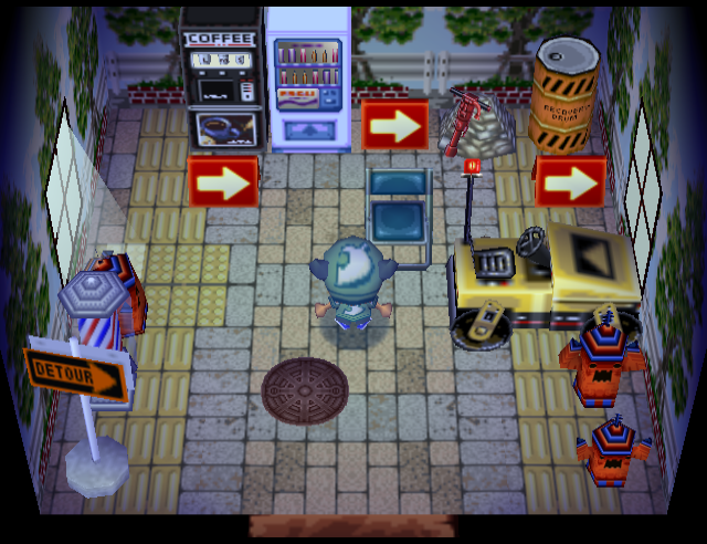 Interior of Tybalt's house in Animal Crossing