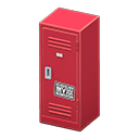 Upright Locker (Red - Cool) NH Icon.png