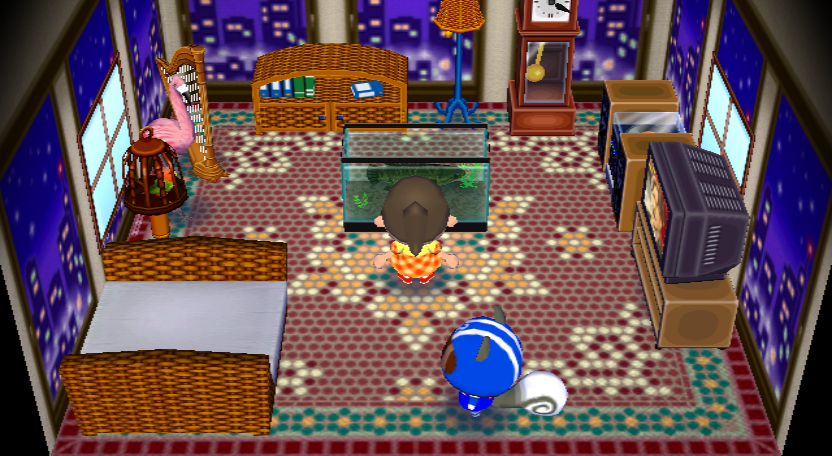 Interior of Agent S's house in Animal Crossing: City Folk