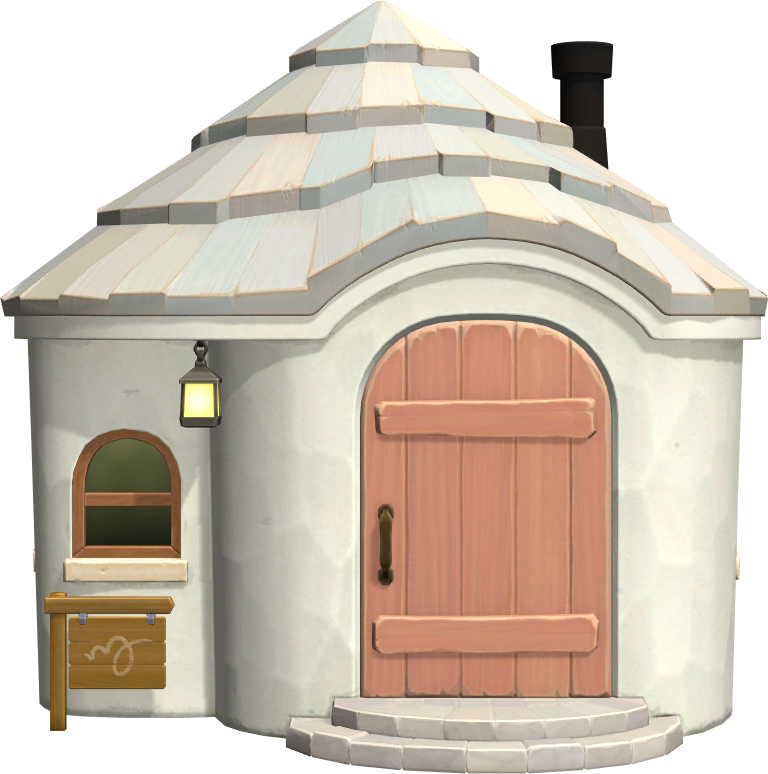 Exterior of Chevre's house in Animal Crossing: New Horizons