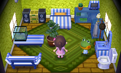 Interior of Henry's house in Animal Crossing: New Leaf