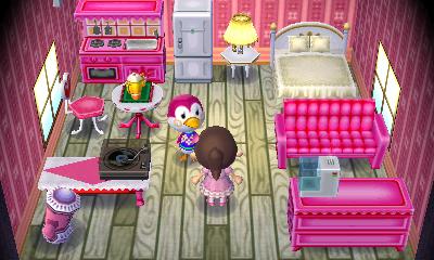 Interior of Midge's house in Animal Crossing: New Leaf