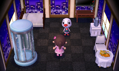 Interior of Piper's house in Animal Crossing: New Leaf