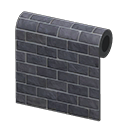 Black-Brick Wall