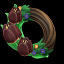 Dark Tulip Wreath